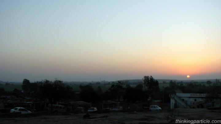 Sunset at Bhojpur temple near Bhopal