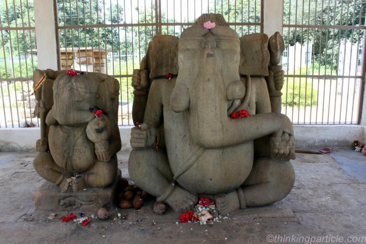 Twin Statues of Ganesha